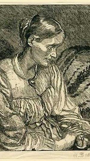 Anna Syberg - Anna Syberg drawn by her husband Fritz Syberg (1915)