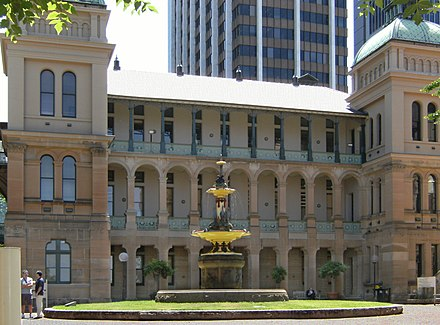The Sydney Hospital, the oldest teaching hospital in the city. Sydney Hospital.jpg