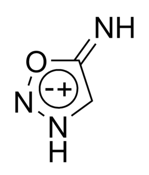 Sydnone imine - Chemical structure of sydnone imine