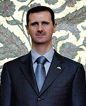 The Syrian dictator Bashar al-Assad