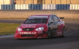 Norberto Fontana - Fontana driving a Toyota Corolla touring car during a TC 2000 race at the Curitiba circuit in 2006.