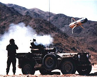 BGM-71 TOW - A TOW missile being fired from an M151.