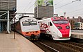 TRA E1039 and TED2007 at Xizhi Station 20140602.jpg