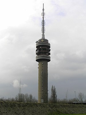 Goes TV Tower - Goes TV Tower with the new antenna