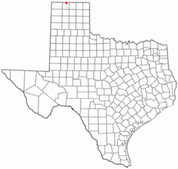 Location of Texhoma, Texas