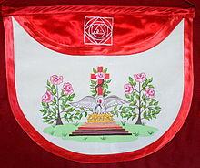 photo en couleur d'un décors maçonnique