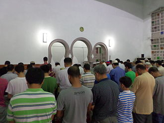 Tarawih - Tarawih prayer at Taipei Grand Mosque, Taiwan.