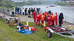 Taiwan Rescue Team Interviewing for News Reporter in Nanhu Riverside Park North 20150204.jpg