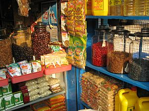 Grocery store - A grocery in Taliparamba, India.