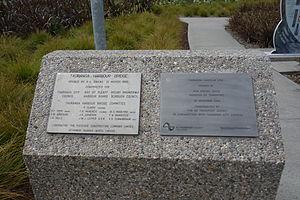 Tauranga Harbour Bridge - Plaques at the Tauranga Harbour Bridge