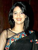 "Tejashree Pradhan at the Mahurat of the film 'Sayonara Phir Milenge"".jpg"