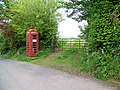 Telephone box, Webberton Cross - geograph.org.uk - 1306737.jpg
