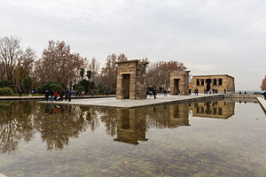 Temple of Debod - The current Temple of Debod in Madrid.