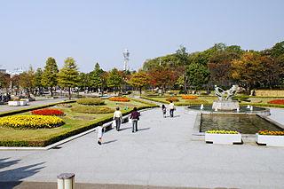 Tennōji Park Park in Osaka, Japan