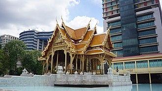 Siriraj Hospital - Thai pavilion housing the statue of King Chulalongkorn and Prince Siriraj Kakudhabhand at Siriraj Hospital