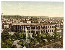 Veduta dell'Arena tra il 1890 e il 1900