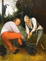 The Barber Institute of Fine Arts - Two Peasants Binding Faggots - Pieter Brueghel the Younger.jpg