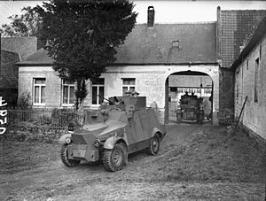 British Expeditionary Force (World War II) - Morris CS9 armoured cars of the 12th Royal Lancers.