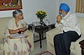The Chief Minister of Delhi, Smt. Sheila Dikshit meeting the Deputy Chairman, Planning Commission, Shri Montek Singh Ahluwalia to finalize Annual Plan 2010-11 of the State, in New Delhi on June 16, 2010.jpg