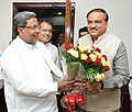 The Chief Minister of Karnataka, Shri Siddaramaiah calling on the Union Minister for Chemicals and Fertilizers, Shri Ananthkumar, in New Delhi on December 03, 2014.jpg