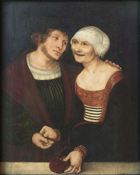Fichier:The Ill-Matched Couple Lucas Cranach the Elder.jpg