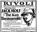 The Man Unconquerable film ad.png