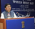 "The Minister of State for Agriculture and Farmers Welfare, Shri Sudarshan Bhagat addressing at the ""World Milk Day"" celebration, organised by the Department of Animal Husbandry & Fisheries, in New Delhi on June 01, 2017.jpg"
