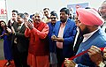 The Minister of State for Social Justice & Empowerment, Shri Ramdas Athawale inaugurating the Trade Fair of Pragati Ka Maidan, in Chandigarh on February 23, 2018.jpg