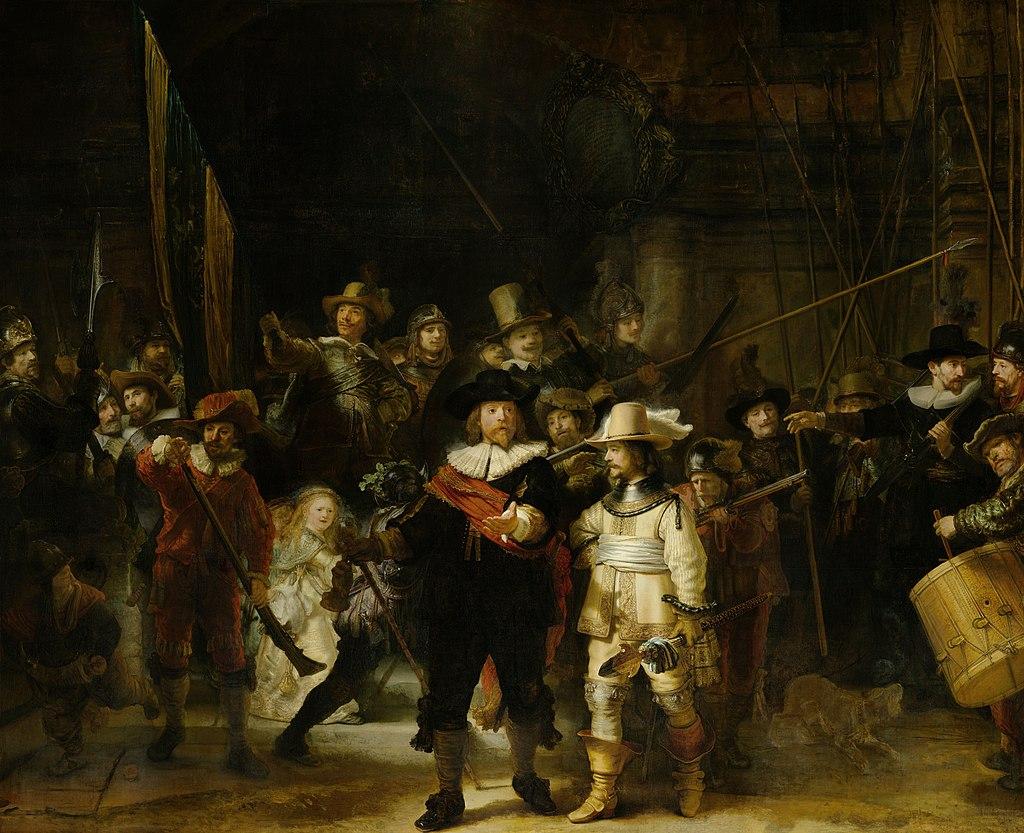 Rembrandt, la Ronde de Nuit dans La Galerie d'art 1024px-The_Nightwatch_by_Rembrandt_-_Rijksmuseum