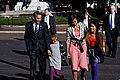 The Obamas walk across Pennsylvania Avenue, 2009.jpg