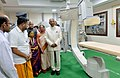 The President, Shri Ram Nath Kovind visiting after inaugurating the Kidney Transplant Unit and Cardiac Unit of the Sri Narayani Hospital and Research Centre, Thirumalaikodi, at Vellore, in Tamil Nadu.JPG