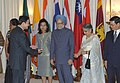 The Prime Minister Dr. Manmohan Singh and his wife Smt. Gursharan Kaur being received by the Prime Minister of Thailand Mr. Thaksin Shinawatra at a reception hosted in honour of the delegates of first BIMST-EC Summit in Bangkok.jpg
