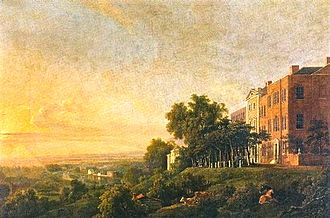 George Barret Sr. - The Terrace, Richmond Hill, overlooking the river Thames c.1775