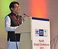 The Union Minister for Civil Aviation, Shri Ajit Singh addressing at the PanIIT Global Conference 2012, in Kolkata on December 07, 2012.jpg