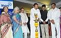 The Vice President, Shri M. Venkaiah Naidu lighting the lamp at the Silver Jubilee Celebrations of Mahila Dakshata Samiti, in Hyderabad.jpg