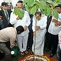 The Vice President, Shri M. Venkaiah Naidu planting a sapling at the premises of Andhra University, in Visakhapatnam, Andhra Pradesh.jpg