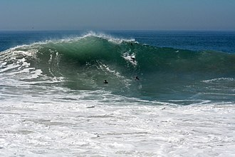 The Wedge (surfing) - Wedge Shaped swell