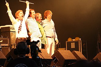 Buzzcocks - Band photo, at the Cropredy Festival, 13 August 2009