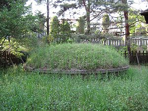 Jōkyō uprising - The burial mound of the executed farmers