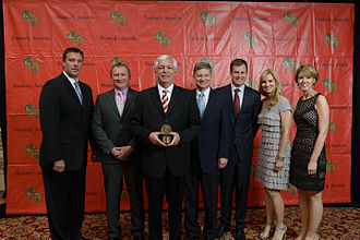 "WTVF - Bryan Staples, Kevin Wisniewski, Phil Williams, Ben Hall, Iain Montgomery, Sandy Boonstra and Michelle Bonnett of News Channel 5 at the 73rd Annual Peabody Awards for ""Questions of Influence."""