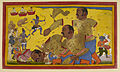 The death of Kumbhakarna - Ramayana, Yuddha Kanda (1652), f.87 - BL Add MS 15297.jpg