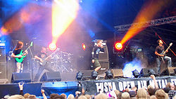 The Faceless live beim Tuska Open Air 2009.