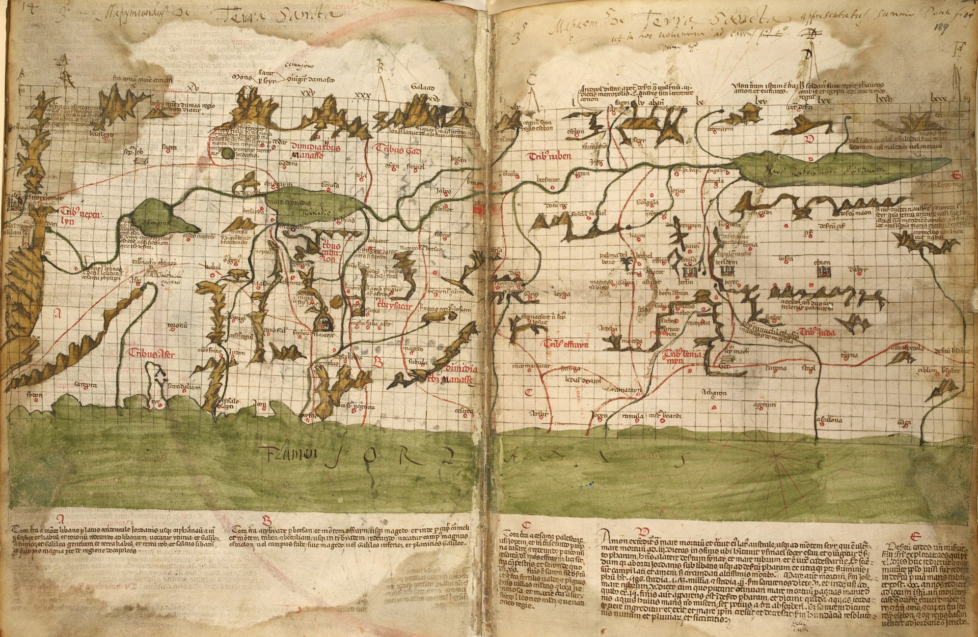 The map of the Holy Land by Marino Sanudo (drawn in 1320).jpg