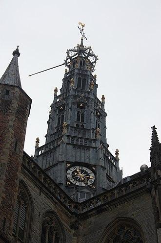 Grote Kerk, Haarlem - The ornate central tower, Grote Kerk, Haarlem
