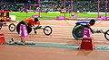The racers preparing for the Mens 200m T53 final (9378427634).jpg