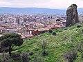 The remains of Roman amphitheatre overlooking the modern city of Bergama, Pergamon (8418839131).jpg