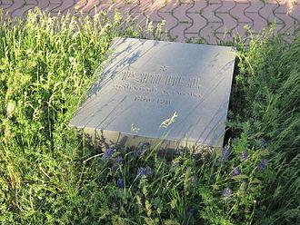 Ghazaros Aghayan - The tombstone of Ghazaros Aghayan in Khojivank