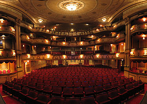 Theatre Royal, Brighton - Panoramic view of the theatre from stage