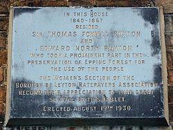 Thomas fowell buxton and edward north buxton (borough of leyton ratepayers association)