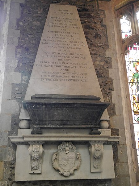 File:Thomas Graham (1666-1733) memorial, St Mary's, Harrow on the Hill, 2015 01.jpg